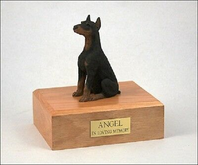 Doberman Pet Funeral Cremation Urn Available in 3 Different Colors & 4 Sizes