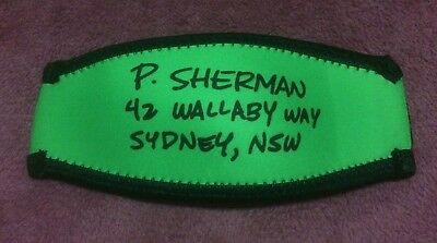 P Sherman 42 Wallaby Way Sydney, NSW. Mask strap cover. Finding Nemo