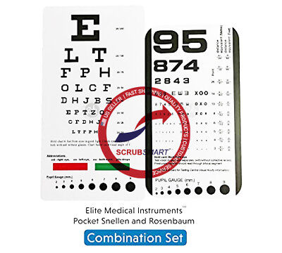 Pocket Eye chart set Snellen + Rosenbaum Pocket Eye Charts - 2 Piece Lot EC-PSR