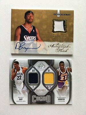 de1ac9212 MICHAEL COOPER-KARL MALONE 2009-10 SP Game Used Combo Materials ...