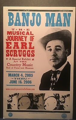 Earl Scruggs Hatch Show Print Poster Nashville Country Music 2005 Banjo Man