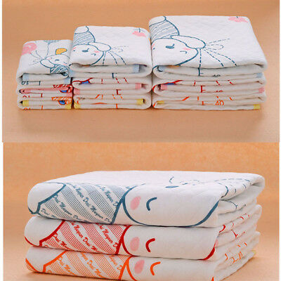 Changing Mat Baby Infant Cotton Waterproof Pad Bed Sheets Babys Urine Pad