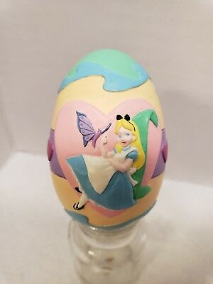 Rare Disney Store Alice in Wonderland Easter Egg Figure