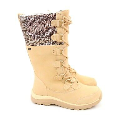 8920365abb UGG Australia Atlason Frill Cream Rain Snow Waterproof Boots 1019188 US 7.5  NEW