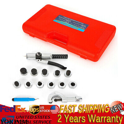 11 Lever Hydraulic Tube Expander Tubing Expander Deburring Tool Swaging Kit New