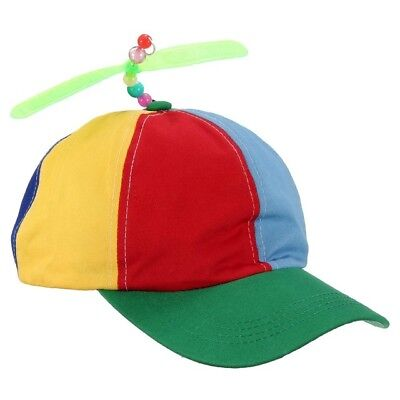 New Propeller Cap Hat Helicopter Rainbow Tweedle Dee Dum Pride Dress Nerd #AM8