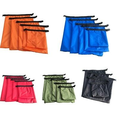 5x/Set 1.5-6L Waterproof Bag Pouch Polyester Taffeta Buckled Sack Drifting Bags