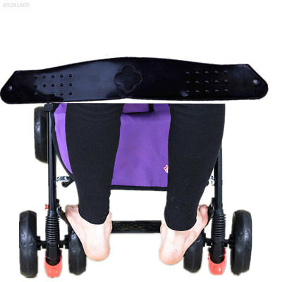 537A Foot Rest Plastic Black Extend Board Baby Footrest Pushchair Anti-Skid