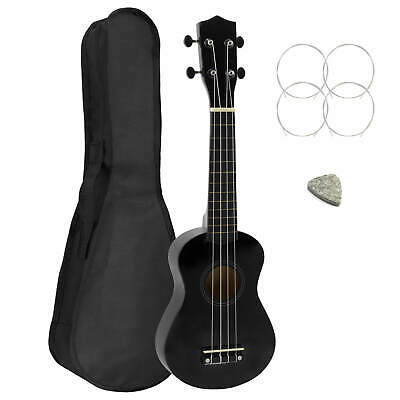 Black Soprano Starter Ukulele With Bag