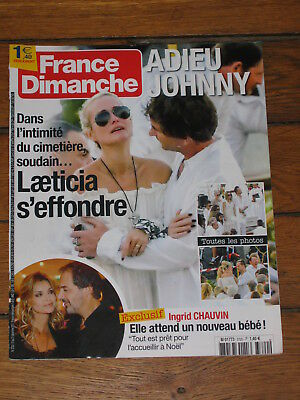 France Dimanche 3720 - Johnny Hallyday, Ingrid Chauvin, Bertrand Cantat, Dutronc