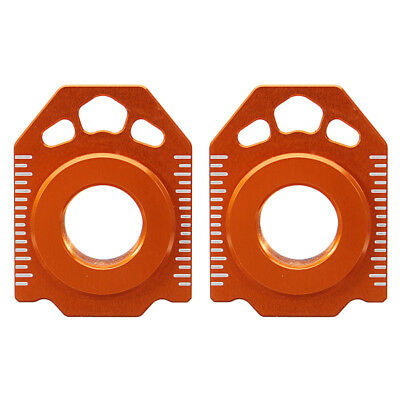 Pair CNC Rear Axle Spindle Chain Adjuster Blocks For KTM LEFT EXC XCW 125-530