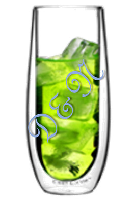 Double side wall glass cup - isothermal - Chanpagne coctails & lounge
