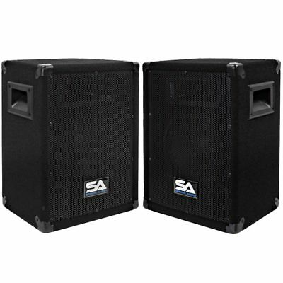 "Seismic Audio Pair 8"" PA DJ Pro Audio Band Speakers 150 W NEW Monitor"