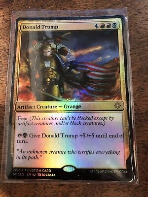 Donald Trump American President Magic The Gathering MTG card Planeswalker
