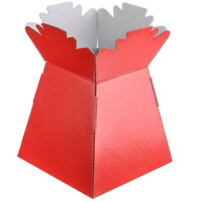 Red - Living Vases Florist Bouquet Box Flower Plant Aqua Sweet Gift Boxes
