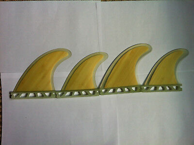 Futures Quad set of 4 Surfboard surf fins Bamboo Honeycomb surfing fin Quads