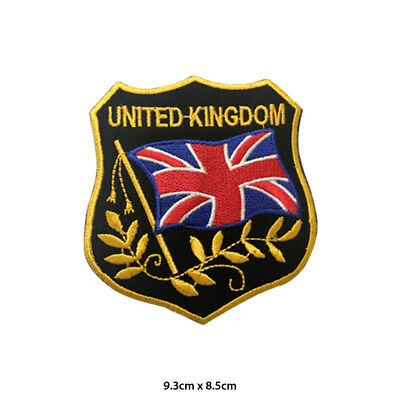 UK Special Flag Embroidered Patch Iron on Sew On Badge For Clothes Bags etc
