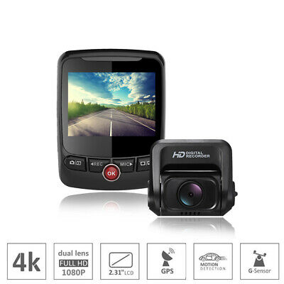 car dash camera 4K Ultra 2160P WIFI GPS ADAS dual lens 1080p for front and rear