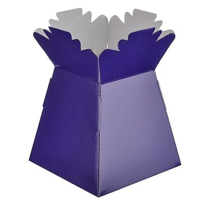 Purple - Living Vases Florist Bouquet Box Flower Plant Aqua Sweet Gift Boxes
