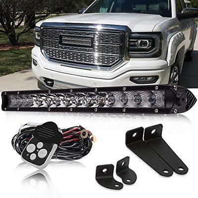 17inch LED Light Bar Work SPOT FLOOD Slim Driving+Wiring For 4WD Tacoma SUV Jeep