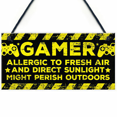 Gaming Bedroom Accessories Room Sign Novelty Birthday Gift For Gamer Brother Son