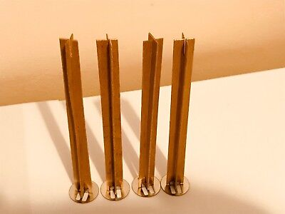 40  pcs CROSS WOOD WICK 13cm high 12mm wide for Candle Making with sustainers