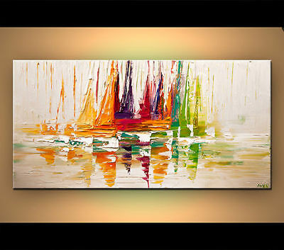 CHENPAT289 abstract sailing ship 100% hand-painted art oil painting on  canvas