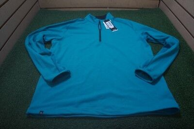 New  Adidas Golf Climacool Pullover Mens Size Medium  Turquoise *