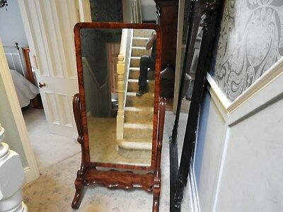 Antique Mahogany Tilting Cheval Mirror