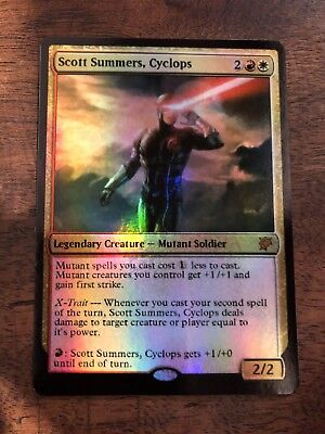 Scott Summers Cyclops Marvel Magic The Gathering MTG card Planeswalker Stan Lee