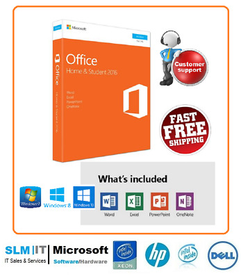 Brand New Sealed Microsoft Office 2016 Home and Student FOR 1 PC - Windows