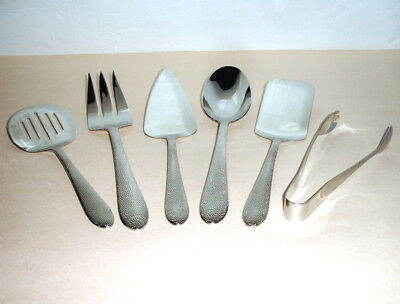 Lenox Garvey 6 PC. Entertainment Set Large Servers 18/10 Stainless Flatware New