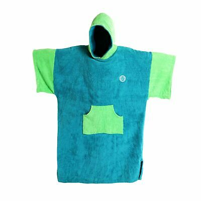 MADNESS Change Robe Poncho Unisize Teal/Lime surf bademantel