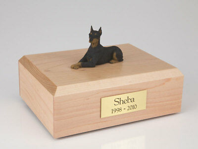 Doberman Ears Up Pet Funeral Cremation Urn Avail in 3 Different Colors & 4 Sizes