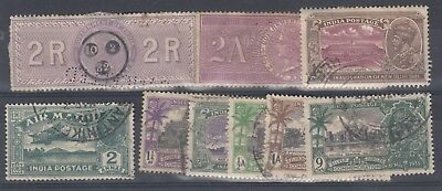 India QV/KGV Collection of 8 VFU J3521