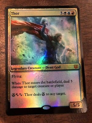 Thor Odin Loki Marvel Magic The Gathering MTG card Planeswalker Stan Lee