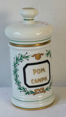 Pot à pharmacie en porcelaine de Limoges POM-CAMPH