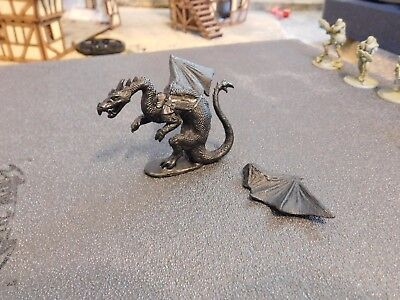 Vintage Ral Partha Pewter Winged Dragon Dungeons And Dragons Figure 1986! Rare!!