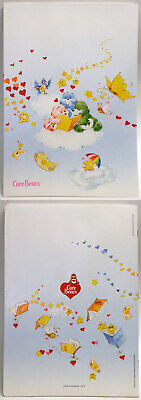 Care Bears Italian school exercise book 1985 reading on clouds 11-in