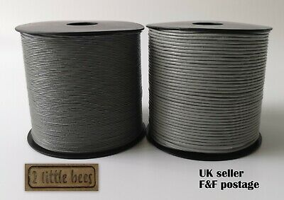 Grey Real Round Leather 1mm, 2mm Cord Necklace Jewellery Rope String Thread UK