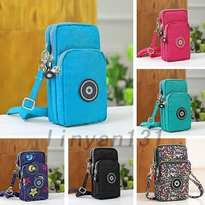 Mini Cross-Body Neck Hanging Mobile Phone Pouch Coin Purse Wallet Shoulder Bag