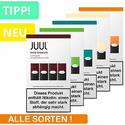 JUUL PODs für Starter Kit E-Zigarette ⭐Apple Rich Tobacco Royal Creme Mango Mint