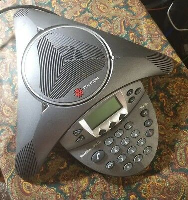 POLYCOM SOUNDSTATION IP 6000 Conference Phone +Power+ Cat5E