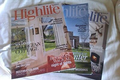Highlife Magazines, Southern Highlands Nsw, 3X Editions. 2017. Nice Condition!