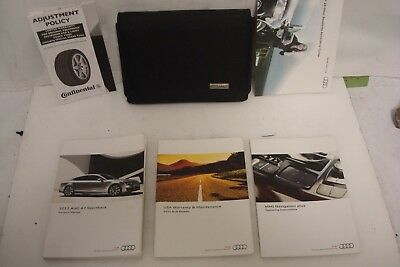 2012 Audi A7 Owners Manual Set Literature Owners 12 Sportback