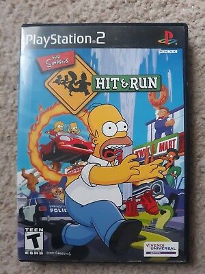 The Simpsons Hit & Run (Sony PlayStation 2 PS2, 2003) Tested CIB - Complete