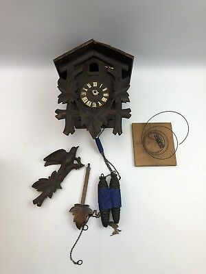 Vintage Heco Germany Made Coo Coo Clock, Parts Repair Henry Coehler