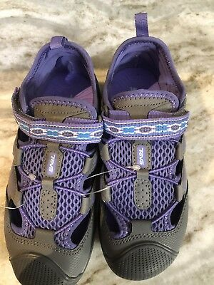 0a03bfa54 TEVA Kids Omnium 2 Sandals Pur   Gray Youth Sz 2 Hiking Water Shoes Girls  NEW