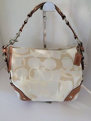 22b1be5db2c9 ... norway coach carly bag purse brown cream nwot 9a05f 930ac