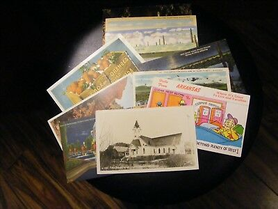 Lot of 12 Vintage Souvenir / Travel Postcards, Used, Early 20th century